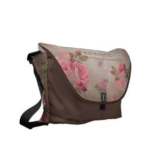 Shabbychic Rose Bote-Tasche vintiage Rosen Typo Kuriertaschen