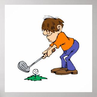 Shaggy Golfspieler Poster