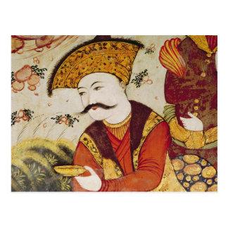 Shah Abbas I und ein Höflings-Angebot Postkarte
