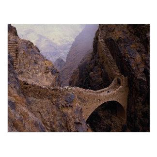 Shahara Brücke, 9000 ft.-Abgrund, der Jemen Postkarte