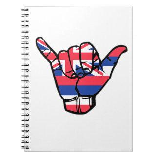 Shaka Hawaii Flagge Notizblock