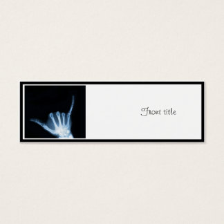 Shaka Zeichen-Röntgenstrahl (Fall lose) Mini Visitenkarte