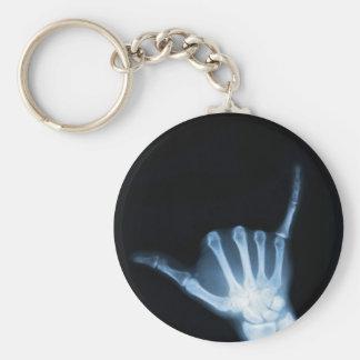 Shaka Zeichen-Röntgenstrahl (Fall lose) Schlüsselanhänger