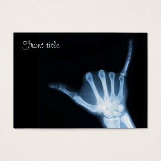 Shaka Zeichen-Röntgenstrahl (Fall lose) Visitenkarte