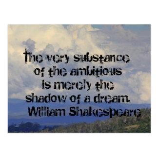 Shakepeare Zitat ~ Schatten eines Traums Postkarte