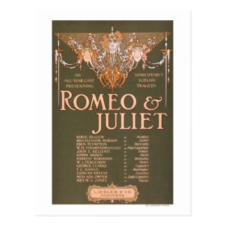 "Shakepeares erhabene Tragödie ""Romeo u. Juliet "" Postkarte"