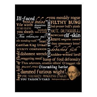Shakespeare beleidigt Sammlung Postkarten