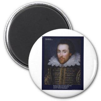 Shakespeare-Liebe/blindes Zitat auf Runder Magnet 5,7 Cm