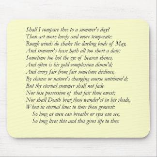 Shakespeare-Sonett # 18 Mauspads