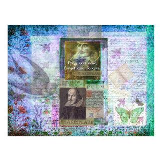 Shakespeare-Zitat auf dem Leben und Verzeihen Postkarte