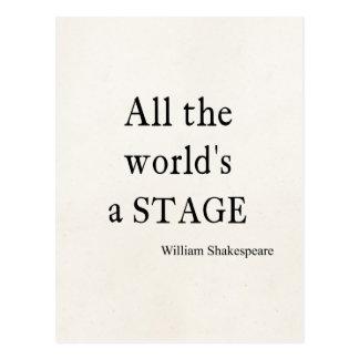 Shakespeare-Zitat die ganze Welt ist eine Postkarte