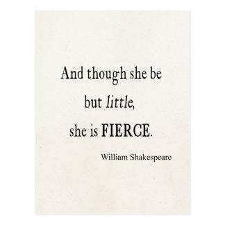 Shakespeare-Zitat ist sie kleine aber heftige Postkarte