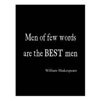 Shakespeare-Zitat-Trauzeugen weniger Wort-Zitate Postkarte