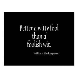 Shakespeare-Zitat verbessern einen geistreicher Postkarte