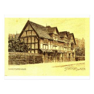 Shakespeares Haus Stratford auf Avon Postkarte