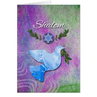 Shalom für Rosh Hashanah, Friedenstaube Karte