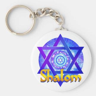 SHALOM mit Davidsstern Medaillon Schlüsselanhänger