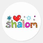 Shalom Runder Aufkleber