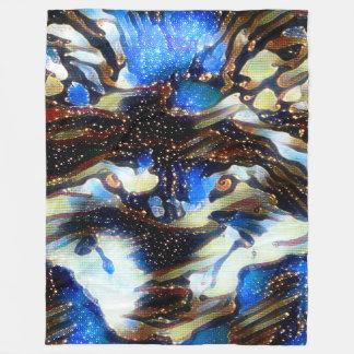 Shaman-Geist-Wolf-Starry Himmel-Fleece-Decke Fleecedecke