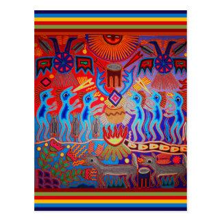 Shaman-Ritual Huichol Postkarte