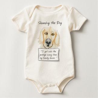 Shaming das Hundegolden retriever Baby Strampler