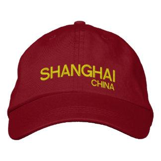 Shanghai-China-personalisierter justierbarer Hut Bestickte Baseballcaps