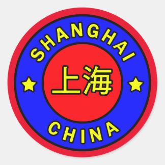 Shanghai-China Runder Aufkleber