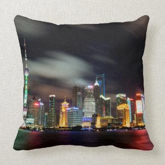 Shanghai-Skyline bis zum Nacht
