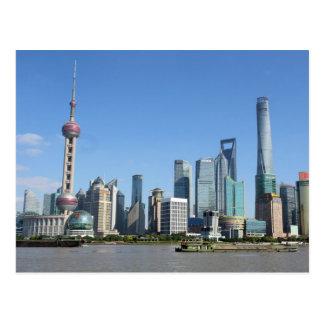 Shanghai von der Promenaden-Postkarte Postkarte