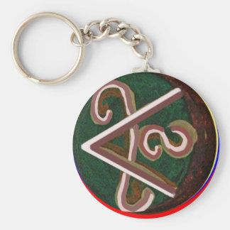 Shanti = Frieden Standard Runder Schlüsselanhänger