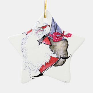 ShardArt Frohe Festtage durch Tony Fernandes Keramik Ornament