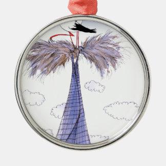 ShardArt nicht willkommene Besucher durch Tony Rundes Silberfarbenes Ornament