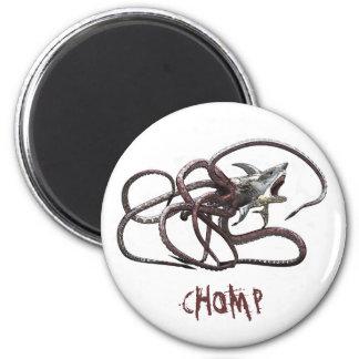 Sharktopus CHOMP Magneten Runder Magnet 5,1 Cm