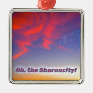 Sharnacity Silbernes Ornament