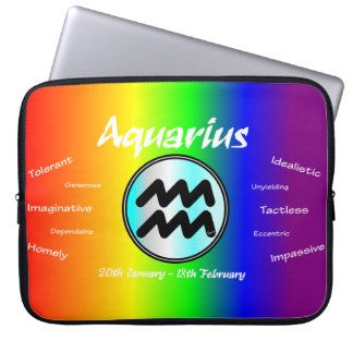 Sharnia Wassermann-Laptop-Hülse (Regenbogen) Laptopschutzhülle