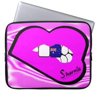 Sharnias Lippenaustralien-Laptop-Hülse (rosa Laptopschutzhülle