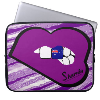 Sharnias Lippenaustralien-Laptop-Hülsen-lila Lippe Laptopschutzhülle