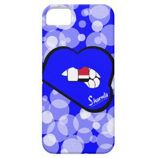 Sharnias Lippender Jemen-Handy-Fall (blaue Lippen) Etui Fürs iPhone 5