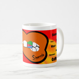 Sharnias Lippeneritrea-Tasse (ORANGE Lippe) Kaffeetasse