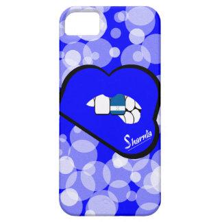 Sharnias Lippenhonduras-Handy-Fall-blaue Lippe Barely There iPhone 5 Hülle