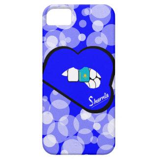 Sharnias Lippenkasachstan-Handy-Fall-blaue iPhone 5 Schutzhülle
