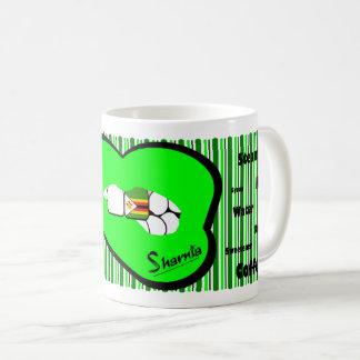 Sharnias Lippensimbabwe-Tasse (GRÜNE Lippe) Kaffeetasse