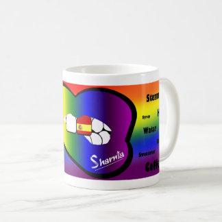 Sharnias Lippenspanien-Tasse (REGENBOGEN Lippe) Kaffeetasse