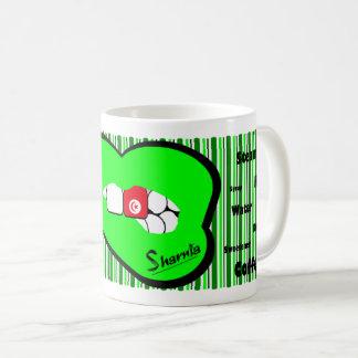 Sharnias Lippentunesien-Tasse (GRÜNE Lippe) Kaffeetasse