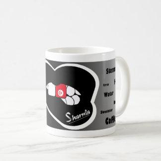 Sharnias Lippentunesien-Tasse (Schwarz-Lippe) Kaffeetasse