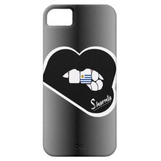 Sharnias Lippenuruguay-Handy-Fall-Schwarz-Lippen iPhone 5 Schutzhülle