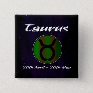 Sharnias Stier-Quadrat-Abzeichen Quadratischer Button 5,1 Cm