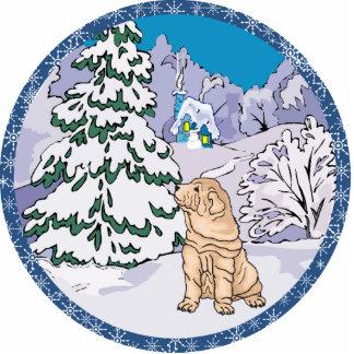 sharpei Winter Photofiguren