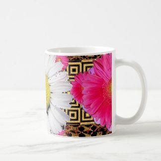 Shasta Gänseblümchen u. rosa Gerbera-Geschenke Kaffeetasse