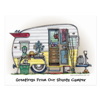 Shasta Wohnwagenanhänger RV-Postkarten Postkarte